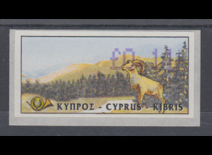 Zypern Amiel-ATM Ausgabe 1999, Mi.-Nr. 3 in Wertstufe L 0,14 **