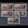 Zypern Amiel-ATM Ausgabe Wildblumen 2002, Mi.-Nr. 5-9 je eine ATM mit Nr. 003