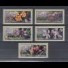 Zypern Amiel-ATM Ausgabe Wildblumen 2002, Mi.-Nr. 5-9 je eine ATM mit Nr. 004