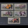 Zypern Amiel-ATM Ausgabe Wildblumen 2002, Mi.-Nr. 5-9 je eine ATM mit Nr. 007