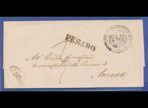 Italien, Vorphilabrief gelaufen von PESARO nach Ancona