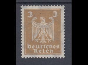 Dt. Reich Reichsadler 1924 Mi.-Nr. 355Y mit seltenem LIEGENDEM Wasserzeichen **