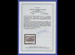 Deutsche Kolonien Kiautschou Mi.-Nr. 26A Luxus-Briefstück gepr. mit Attest BPP