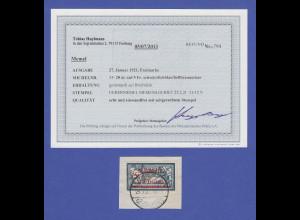 Memelgebiet Mi.-Nr. 33 gestempelt auf Briefstück gepr. mit Fotobefund Huylmans