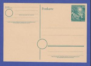 Bundesrepublik Sonderpostkarte 1. Bundestag 1949, 10 Pfg grün, Mi.-Nr. PSo 1 *