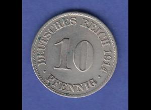 Deutsches Kaiserreich Münze 10 Pfennig 1914 A, vz