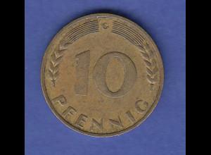 Bundesrepublik Münze 10 Pfennig 1967 G selten !! aus dem Umlauf