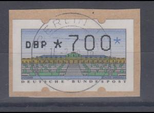 Deutschland ATM Mi.-Nr. 2.1.1 Wert 700 als FÄLSCHUNG zum Schaden der Post