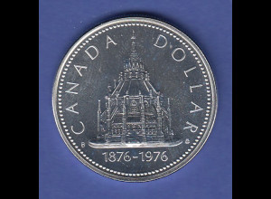 Kanada Silbermünze 1 Dollar 1976 Parlamentsbibliothek Ottawa, 23,2g 500er Silber