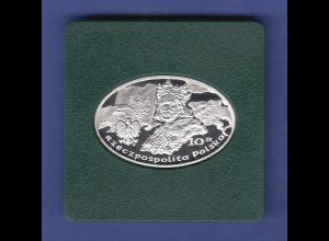 Polen 2011 Schlacht bei Grunwald ovalförmige Silbermünze 10 zt PP