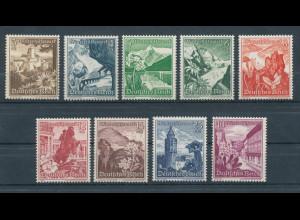 Deutsches Reich, Mi.-Nr. 675-683, WHW Ostmark 1938, Satz kpl. einwandfrei **