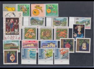 Liechtenstein kompletter Briefmarken-Jahrgang 1997 postfrisch **