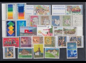 Liechtenstein kompletter Briefmarken-Jahrgang 1998 postfrisch **