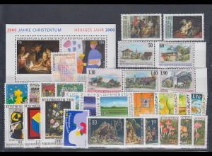 Liechtenstein kompletter Briefmarken-Jahrgang 2000 postfrisch **