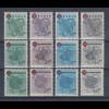 Französische Zone, alle Rotes-Kreuz Wappen-Sätze 12 Werte komplett postfrisch **