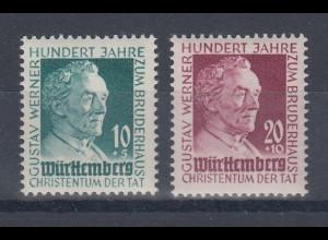 Französische Zone, Württemberg Gustav Werner Mi.-Nr. 47-48 Satz postfrisch **