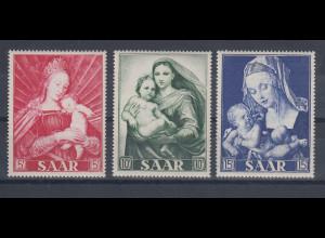 Saarland 1954 Madonnen Marianisches Jahr, Mi.-Nr. 351-353 Satz postfrisch **