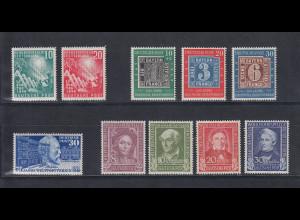 Bundesrepublik: alle Briefmarken des Jahrgangs 1949 komplett postfrisch !