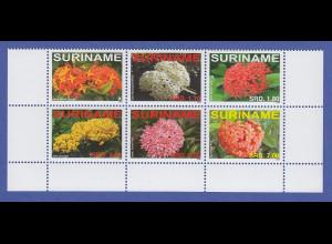 Suriname 2008 Ixora-Blume Satz 6 Werte Mi.-Nr. 2254-2259 komplett **