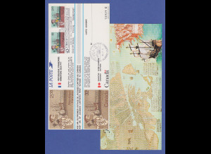 Kanada / Frankreich Gem.-Ausgabe Jacques Cartier 1984, amtliche Sonderkarte
