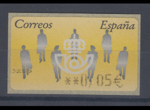 Spanien ATM Menschen, Wert in € 5-stellig breit, Mi.-Nr. 7 F 5