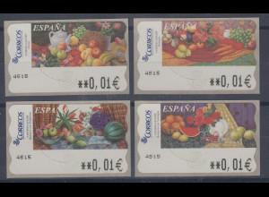 Spanien ATM Gemälde 4 verschiedene Motive, je Wert 5-stellig schmal **