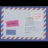 Luxemburg ATM P2502 rotlila Mi.-Nr. 1.2.1d Wert 76,00 Fr. auf Expr-Bf. -> Austr.