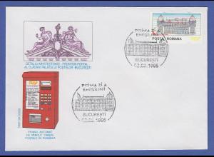 Rumänien ATM **500 auf offiziellem FDC mit Sonder-O Bukarest 02.03.1995