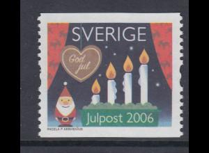 Schweden 2006 Weihnachten Advents-Kerzen am Fenster, Mi-Nr. 2556 **