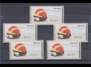 Portugal ATM Feuerwehr 2008 Druck NewVision Mi.-Nr 62.3 , Satz 30-50-52-61-75 **