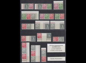 Bundesrepublik 15 Heuss-Zusammendrucke W17-S52 Y II komplett postfrisch **