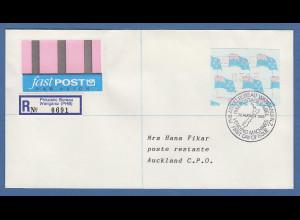 Neuseeland Frama-ATM Nr. 3 Wert 3,15 auf fastPOST-Brief vom Ersttag FDC