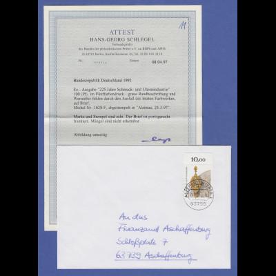 Bundesrepublik Schmuckindustrie OHNE WERTZIFFER Mi.-Nr. 1628 F auf Brief