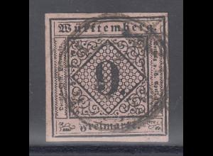 Altdeutschland Württemberg Mi.-Nr. 4a gestempelt
