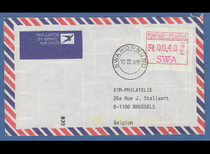 Südwestafrika FRAMA-ATM Nr.1 Aut.-Nr PT-03 Wert 00.40 Rand aus OA auf Orts-FDC
