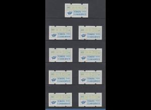 Türkei Klüssendorf-ATM 1987 Satz 9 Werte 5-10-20-50-70-100-120-150-170 **