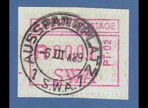 Südwestafrika FRAMA-ATM Nr.1 Aut.-Nr. PT-02 aus OA mit Orts-ET-O AUSSPANNPLATZ