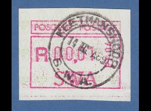 Südwestafrika FRAMA-ATM Nr.1 Aut.-Nr. PT-04 aus OA mit Orts-ET-O KEETMANSHOOP
