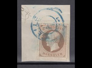 Altdeutschland Hannover Mi.-Nr. 25y auf Briefstück mit Stempel CELLE