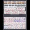 ATM Mexiko Mi.-Nr. 1-6 Sammlung ** und O, insgesamt 15 3er- und 4er Sätze