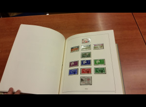 Sammlung Europa-CEPT 1956-1967 fast komplett ** im alten SAFE-Vordruck.