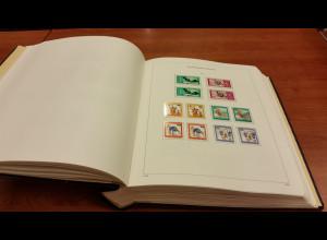 KABE-Bi-Collect Vordrucke Bundesrepublik 1975-1988 fast kpl. bestückt mit Marken