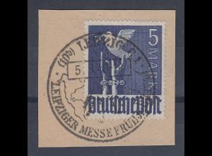 Alliierte Besetzung Mi.-Nr. 962 gestempelt auf Briefstück mit Sonder-O Leipzig