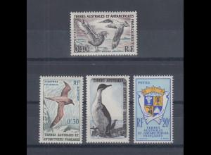 Französische Antarktis 1959 Vögel Satz 4 Werte Mi.-Nr. 14-17 kpl. **