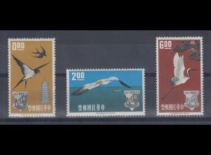 China Taiwan 1963 Postunion AOPU Satz 3 Werte Mi.-Nr. 485-487 kpl. **