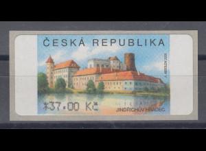 Tschechische Republik ATM 3.Ausgabe Jindrichuv Hradec hoher Wert 37.00 Kc **
