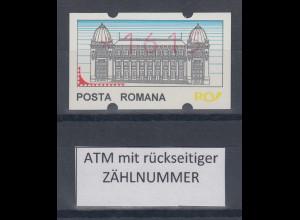 Rumänien ATM 1615 postfrisch ** mit rückseitiger Zählnummer