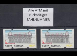 Rumänien 2 ATM 675 und 960 postfrisch mit rückseitiger Zählnummer