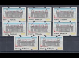 Rumänien 8 ATM ** in 8 versch. Wertstufen, von 30 bis 375. SELTEN !