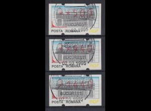 Rumänien 3 ATM 500,940,1440 mit ET-Sonder-O